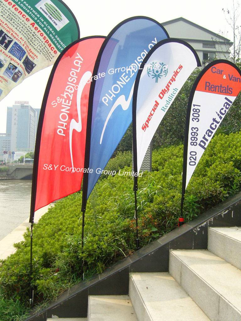 wholesale cheap high-quality polyester tear drop banner