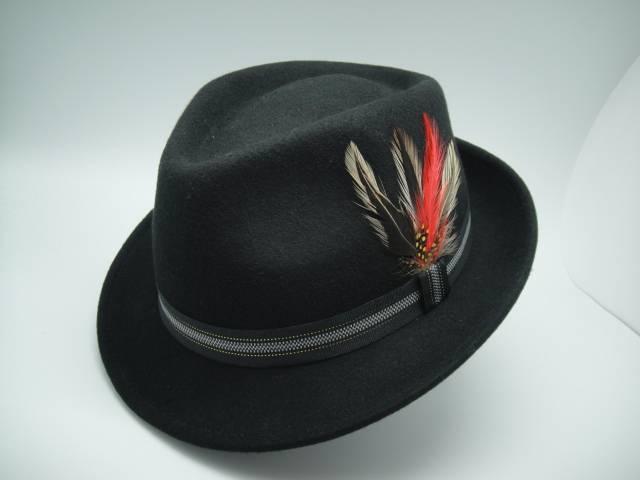 Man Winter Fedora Wool Felt Hat (FM027005)