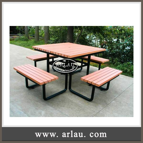 Arlau garden furniture,synthetic wood picnic table and benches,wpc dinning chairs and table