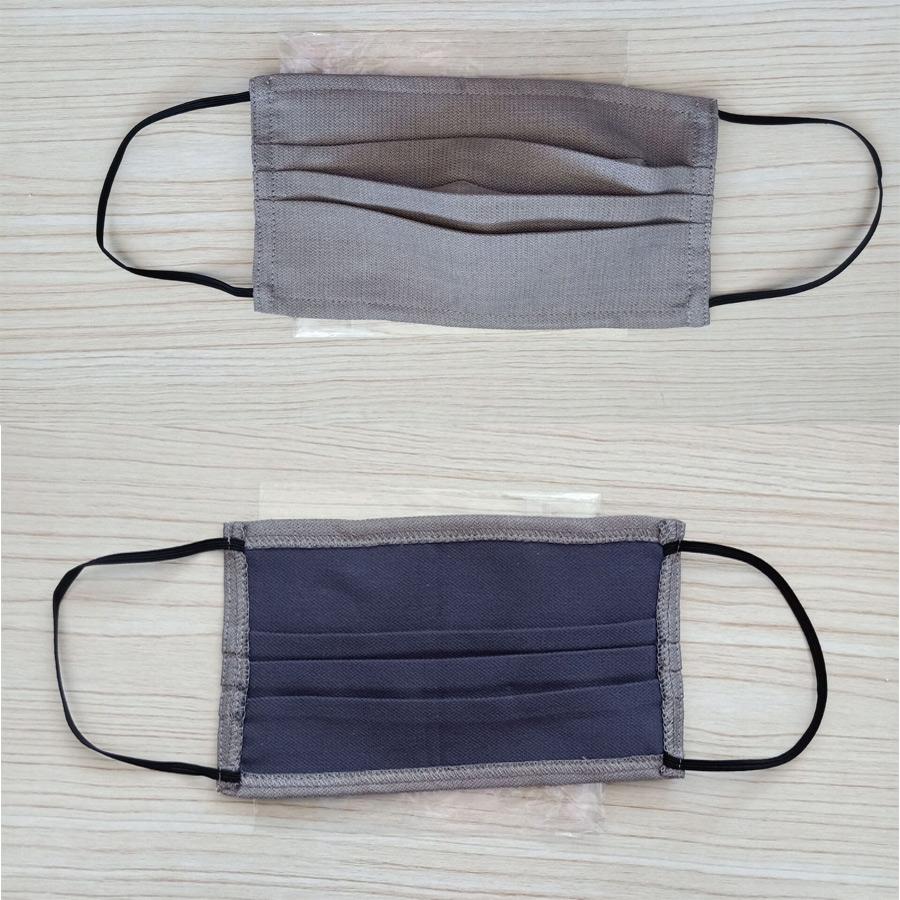 silver fiber cotton face mask