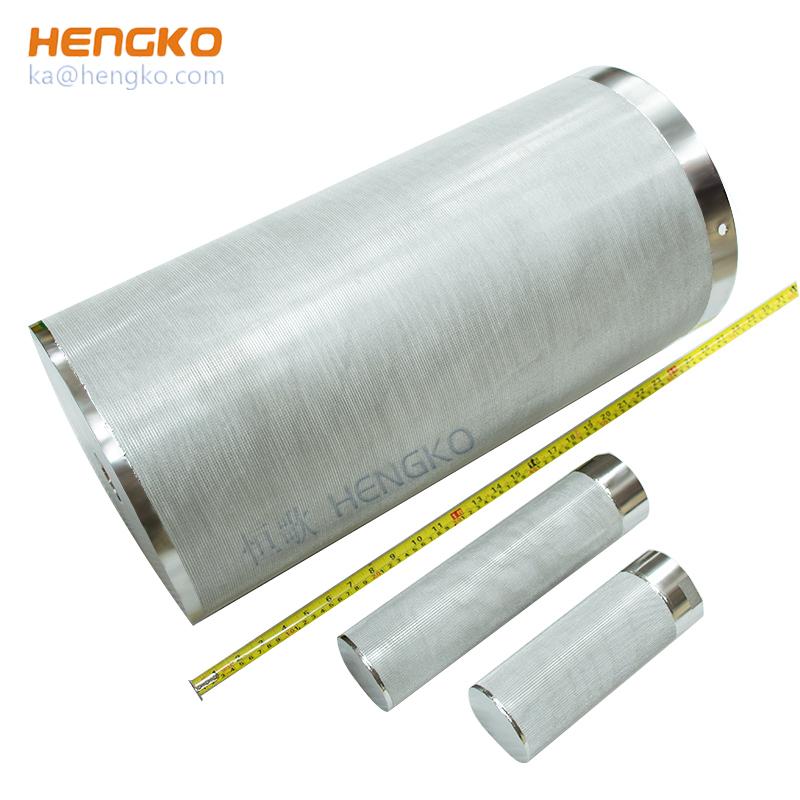 sintered stainless steel mesh filter tube/cartridge/filter element