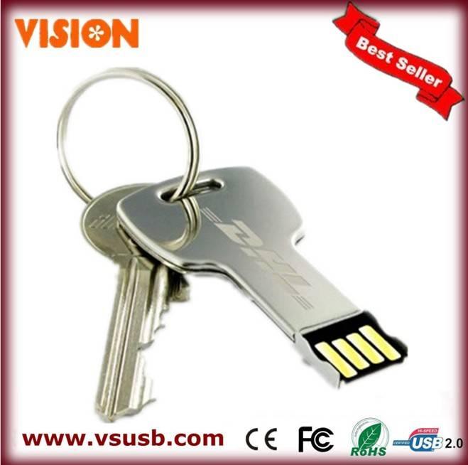 Promotational key usb flash drive for electronic gift