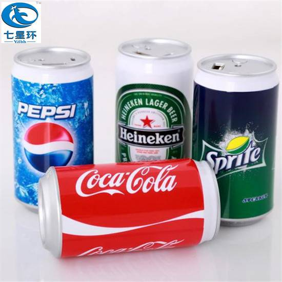 2015 New power bank, special shape for coco cola can round power bank 2600mah for Iphone 6