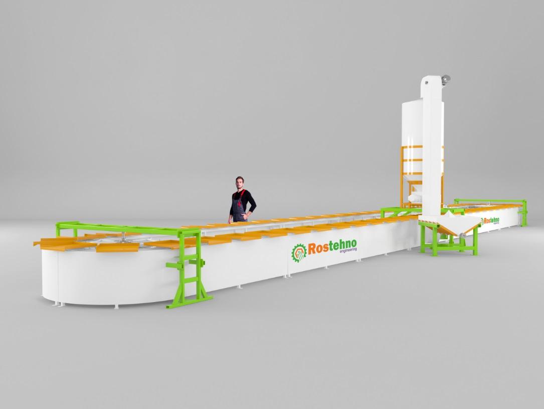 PRODUCTION LINE OF GYPSUM 3D PANELS ROSTEHNO 3D PANELS APL-240