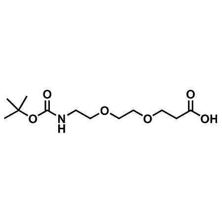 t-boc-N-amido-PEG2-propionic acid;Boc-NH-PEG2-CH2CH2COOH;CAS#1365655-91-9