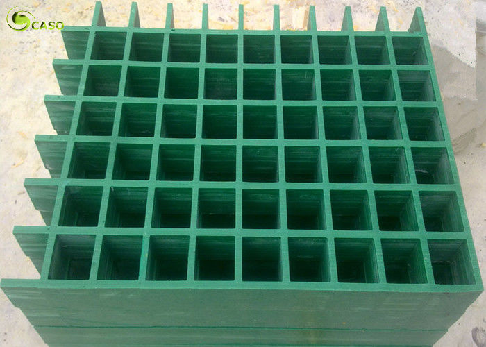 Square Fiberglass Pultrusion Grill Panel High Strength Trench Drain Grating