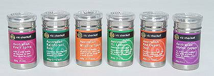 Australian Herbs, Spices & Seasonings - 6 canisters