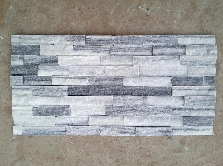 rough surface white and grey culture stone for wall cladding decoration
