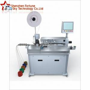 Automatic wire single-end terminal crimping single-end soldering machine