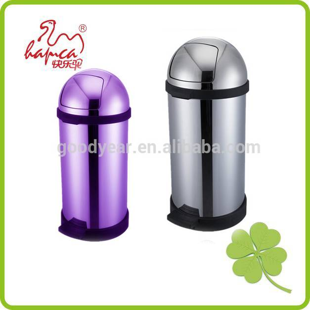 Top design pedal garbage bin with anti-slip black pp base