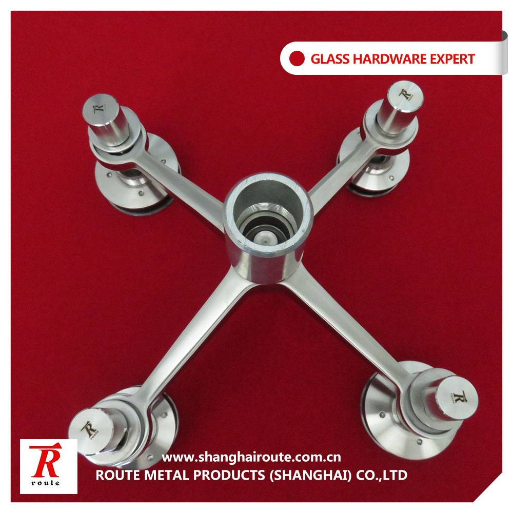 Four arms stainless steel glass spider set