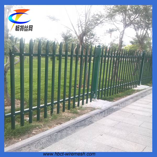 high quality,lowest price steel palisade fence hot dip galvanizing fencing