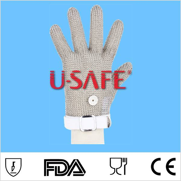 New Safety Cut Proof Stab Resistant Stainless Steel Mesh Butcher Glove
