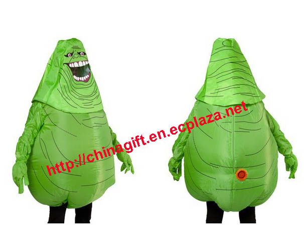 Inflatable Ghostbuster Monster Slimer Costume