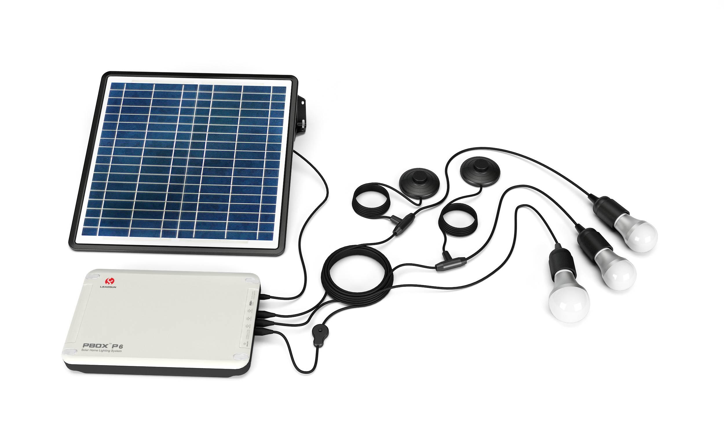 5W,6W,7W white LED apartment solar home system