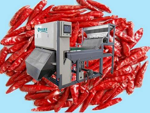chili color sorter with single ejector,more easy maintenance,stable and dyrable