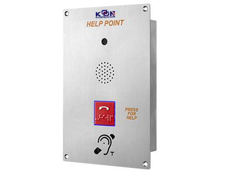 flush mounted emergency telephone with braille button