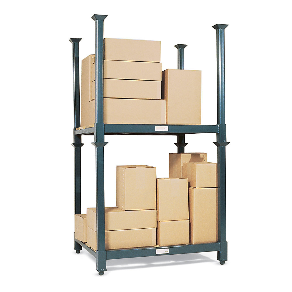 Foldable or dismantable stacking rack tyre rack