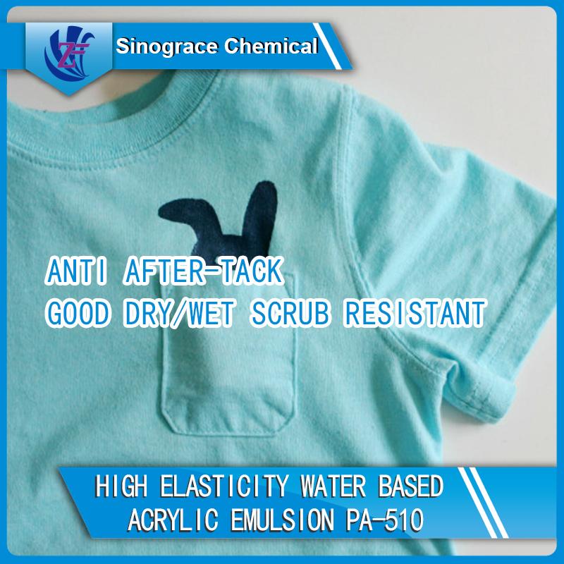 High Elasticity Water Based Acrylic Emulsion For Textile Coating