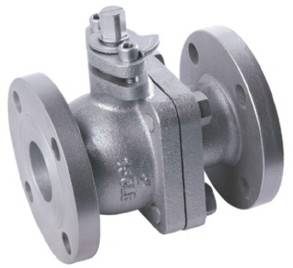 DN15 10K JIS Standard Cast Iron Flanged End Soft Seal 2 pc Ball Valve
