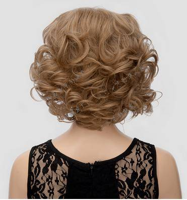 golden color short wig new style