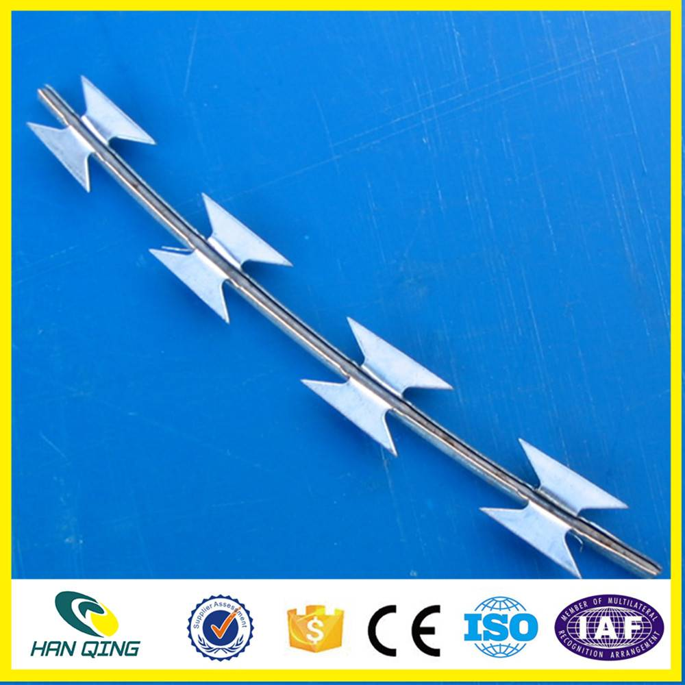 500mm outside diameter with 0.5mm coil wire razor barbed wire mesh fence