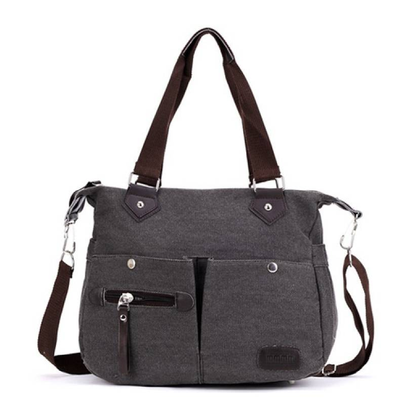 Women's Canvas Branded Ladies Hand Bags Tote Shoulder Bag 5 Candy Colors Messenger Bag Women Duffel
