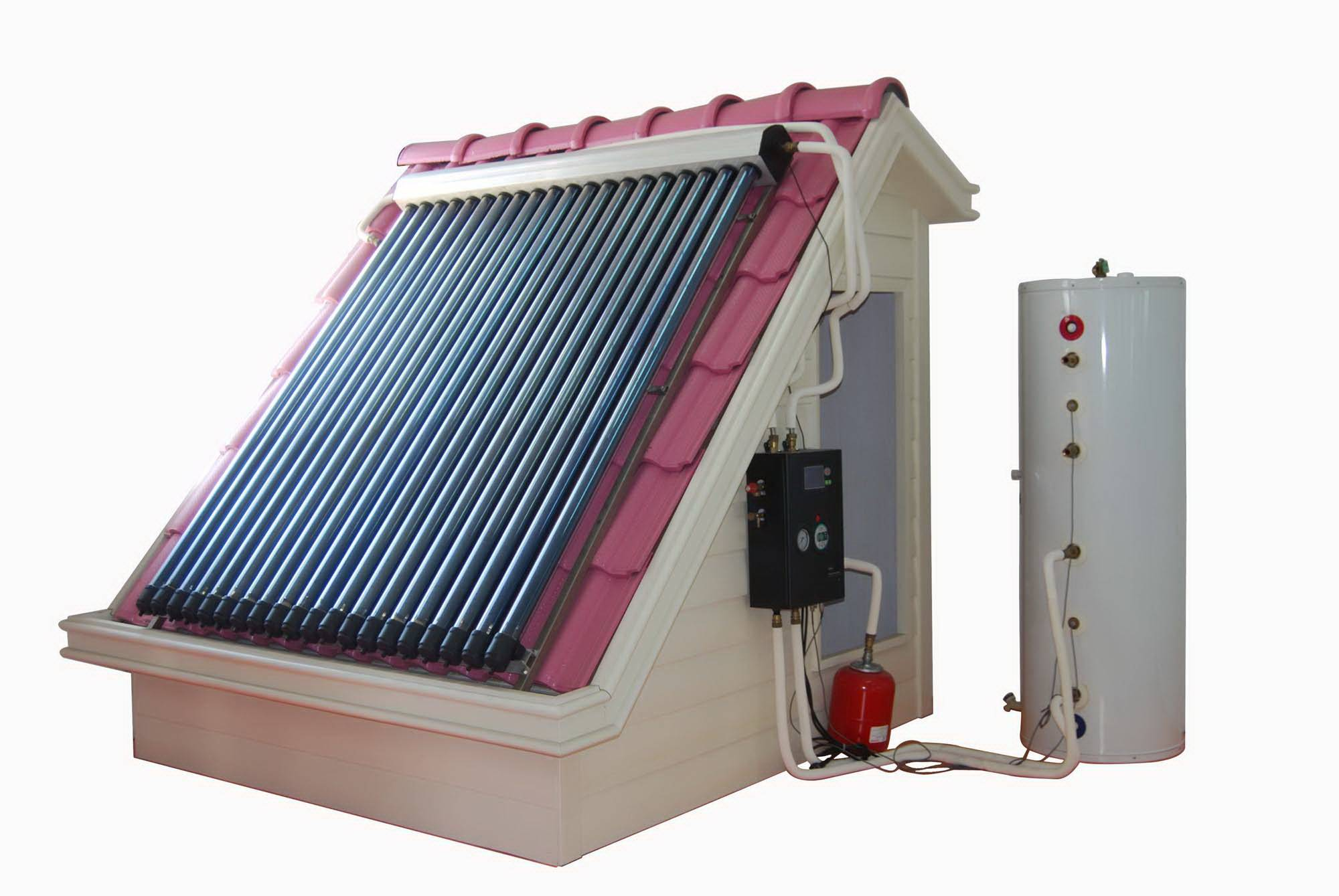 High efficient and convenient active solar heating system