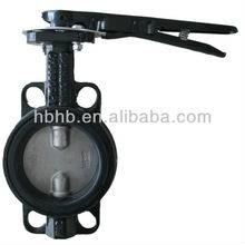 Dn100 handle wafer butterfly valve