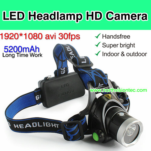 YT17, LED Headlamp Camera DVR, 1080P, 2pcs 18650 li-battery, Long Time Work,TF Card Max 32G