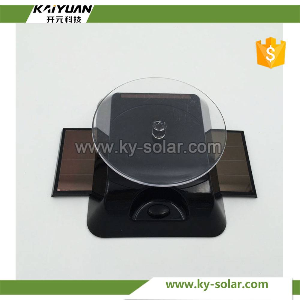 Color Print rechargeable black body solar turntable display
