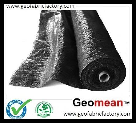136gsm 4.0ozsy  WOVEN SLIT-FILM / PLASTIC WOVEN FILM YARN GEOTEXTILE