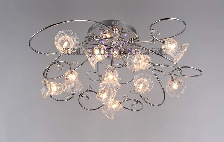 G4 Crystal ceiling light/lamp with low-voltage