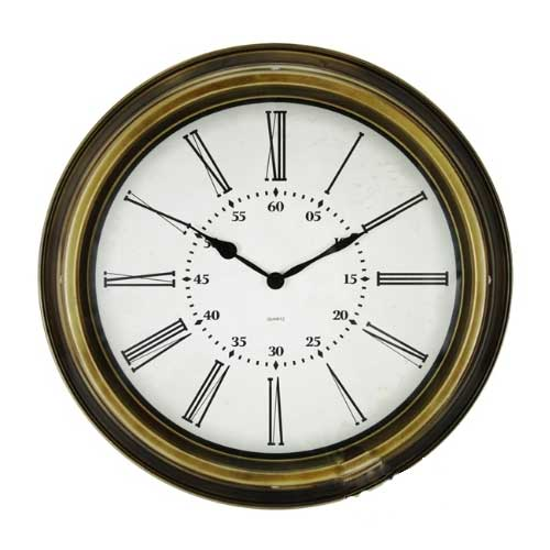 Metal Wall Clock with Big Size Roman Numbers