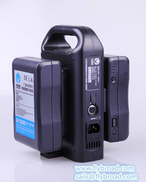 Dual-Port Portable Li-ion Battery Charger+Adapter