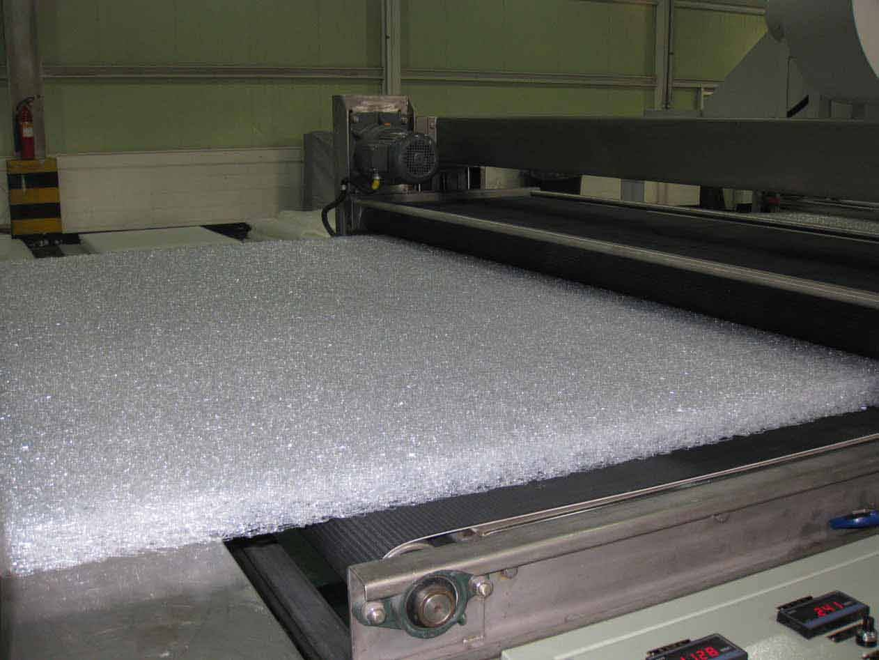 Polymer mattress production line