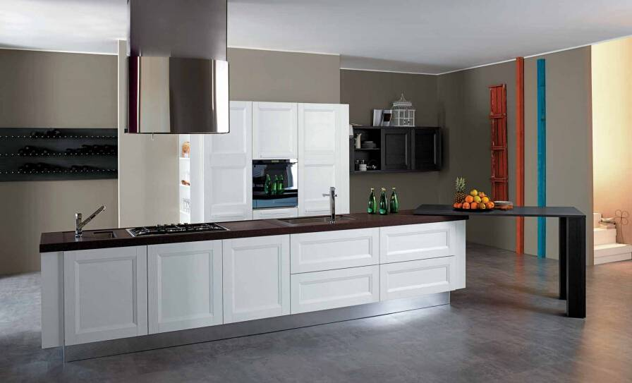 2015 Welbom White American Style Classic Solid Wood Kitchen