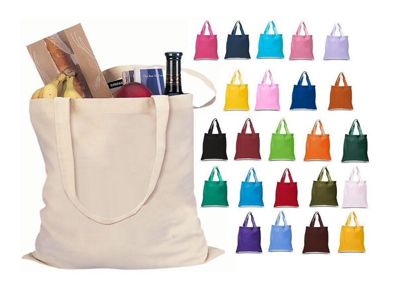 Cotton Tote Bags Reusable 100% Cotton Reusable Tote Bags