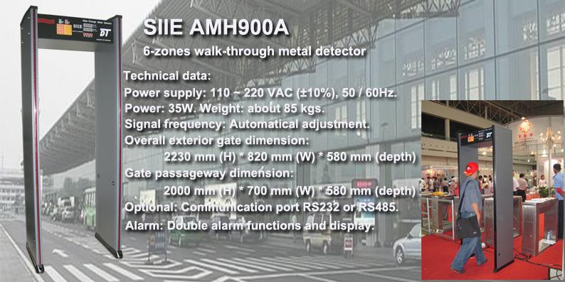 Walk-through metal detector, metal detector door, security door, security gate, metal detector gate