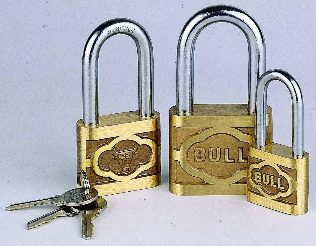 Cast Brass Padlock with long shackle
