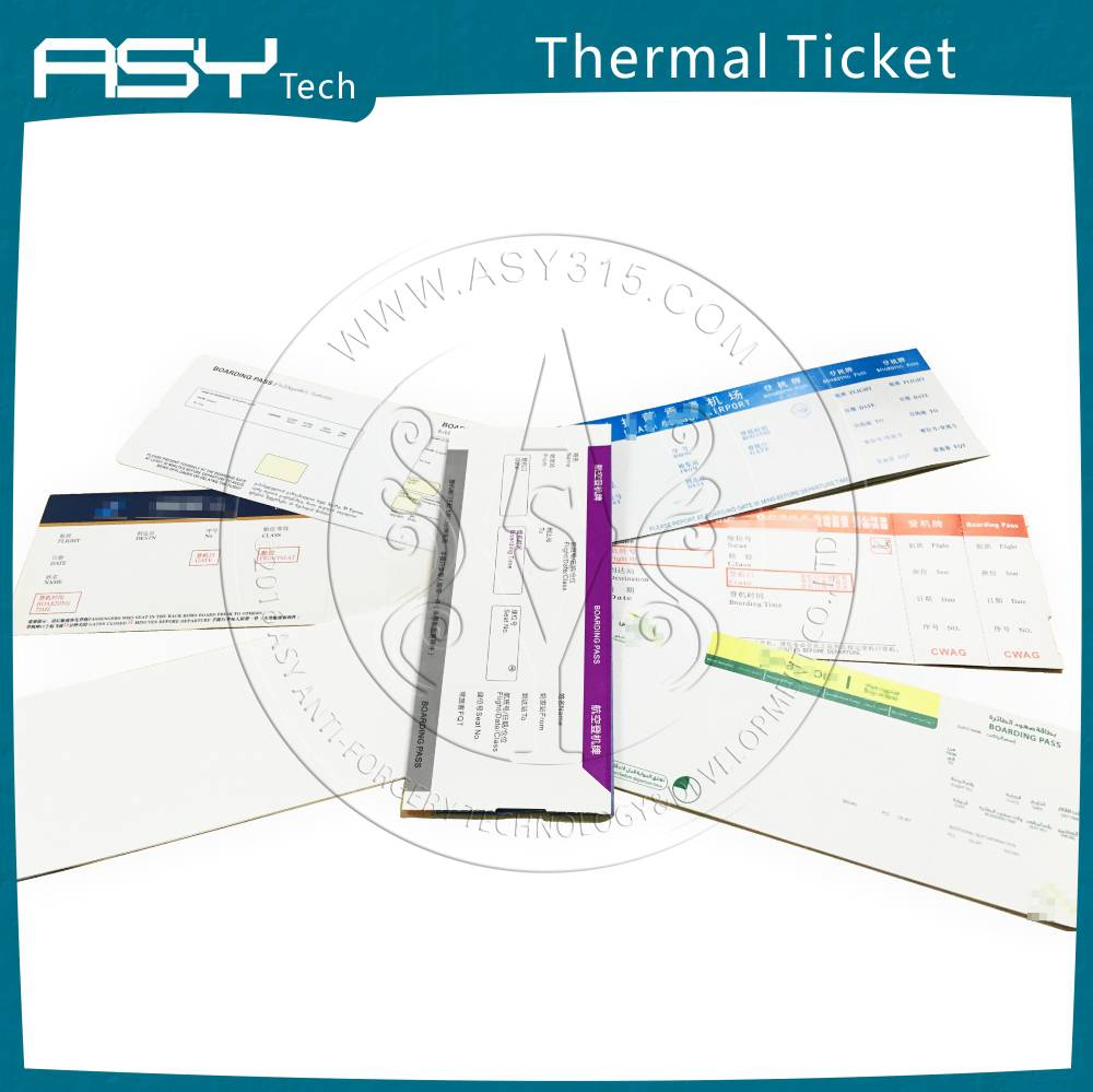 Printed Thermal Paper Ticket & Airline Boarding Card