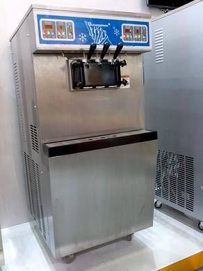 [Two Systems]OceanPower OP865C Big Capacity Floor model Frozen Yogurt Soft Ice Cream Machine.