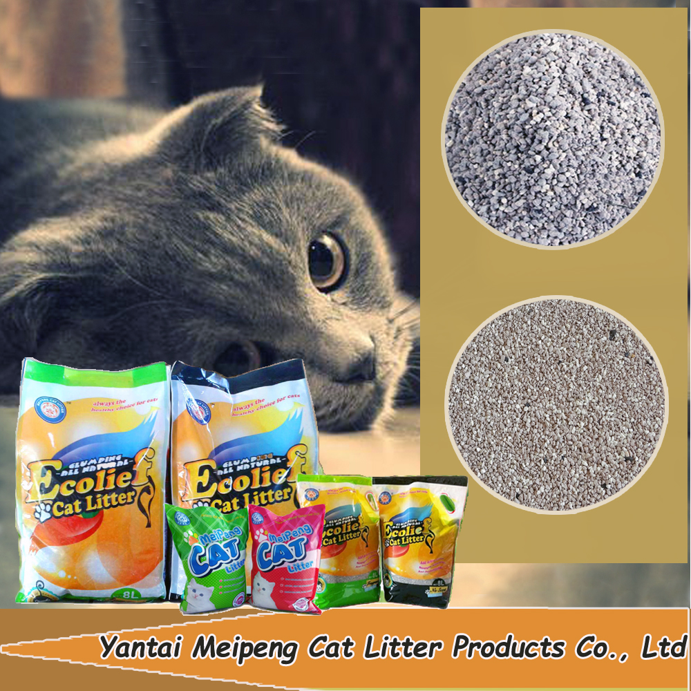 Broken bentonite cat litter factory/pet toilet