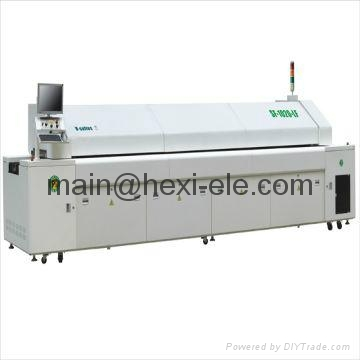 Reflow oven with 20 heating zones