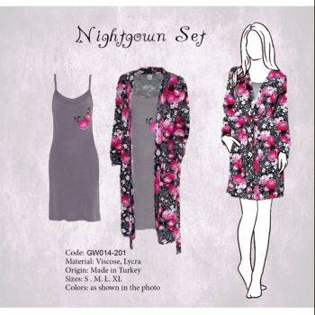 2 Piece Comfortable Nightgown Set