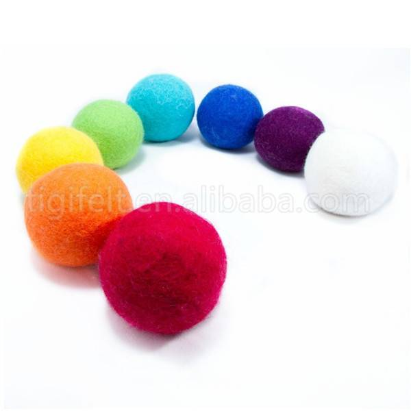Colorful wool dryer ball on sale