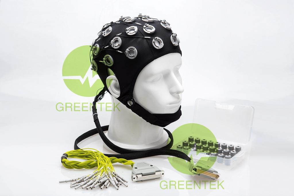 Gel-Free EEG Recording Head Cap Sponge EEG Electrode Cap