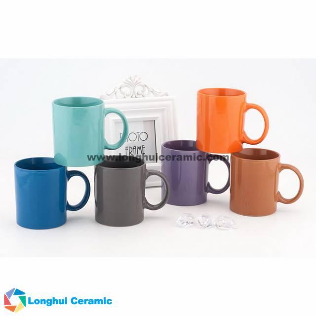Color glaze ceramic milk mug