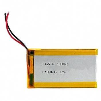 3.7V 1,500mAh Rechargeable Lithium Polymer Batteries with Protection Circuit PCM, Good Quality