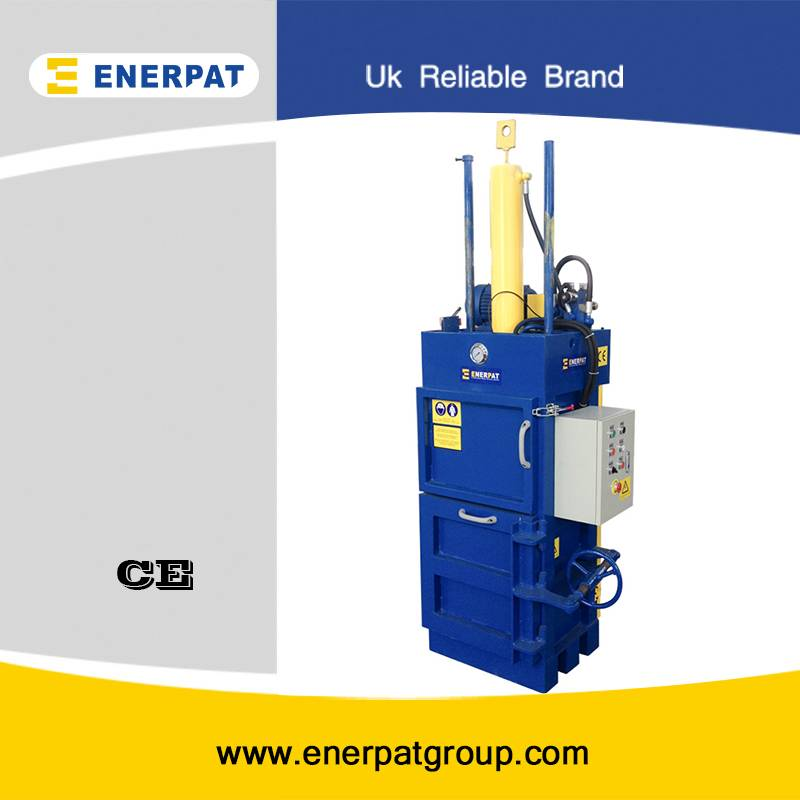 Vertical plastic bottle baler